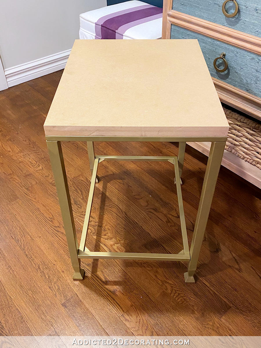 metal and glass side table makeover - 11