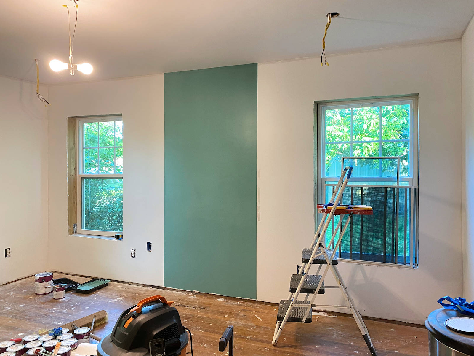 home gym - walls with first color 2