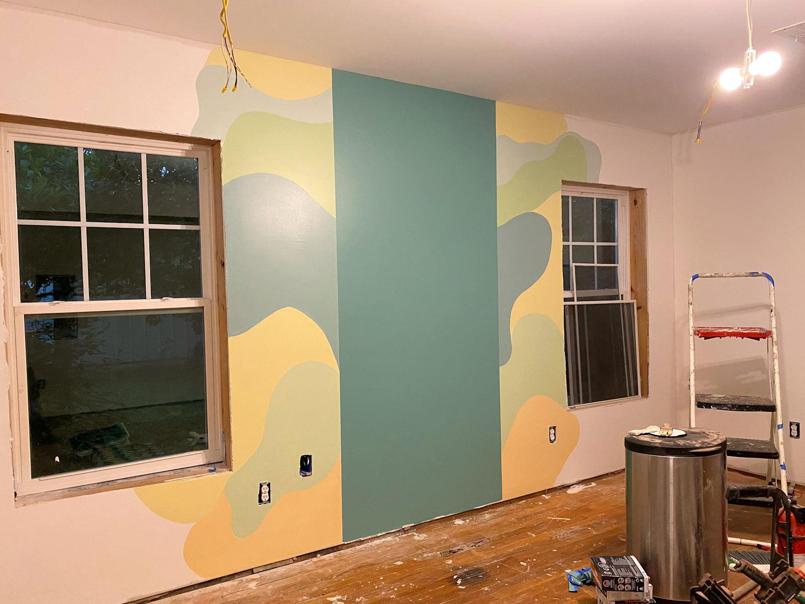 home gym walls with freeform design 3