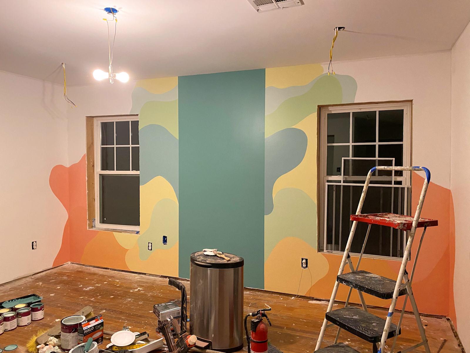 home gym walls with freeform design 4