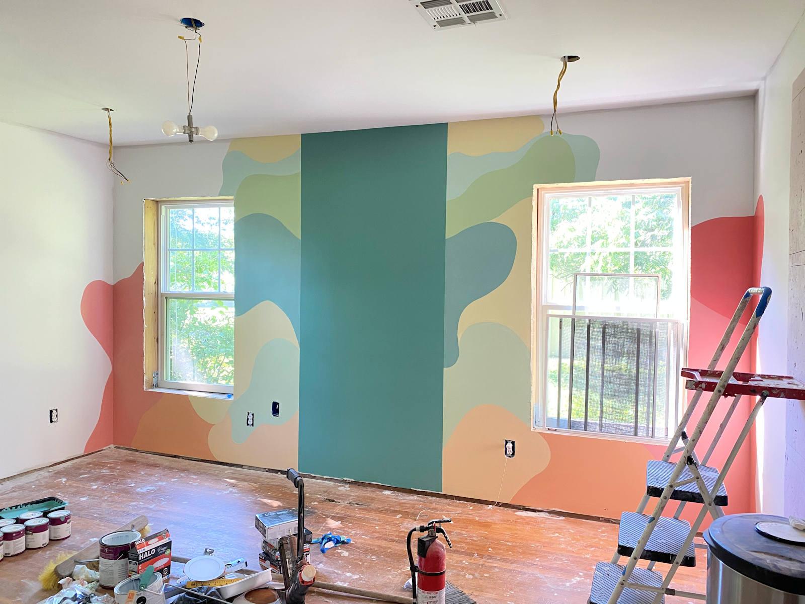 home gym walls with freeform design 7
