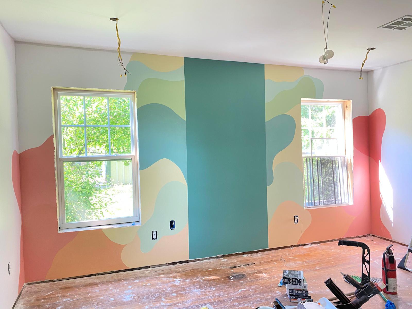 home gym walls with freeform design 8